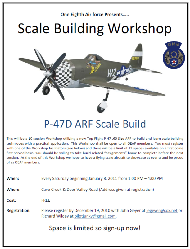 P-47 Workshop Flyer